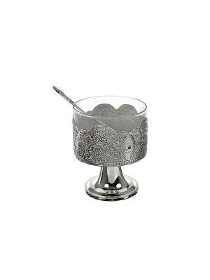 Креманка для десертов, 200 гр., в п/у Elff Ceramics. Цвет: серебристый