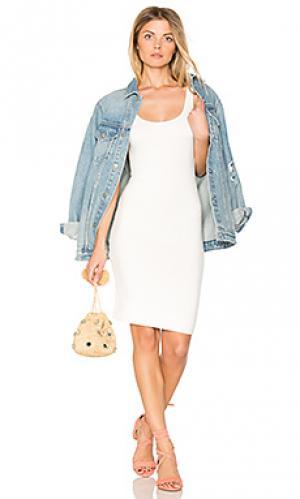 Миди платье с зауженным подолом BLQ BASIQ. Цвет: белый