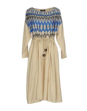 Платье до колена ZUCCA. Цвет: бежевый