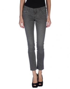Джинсовые брюки GOLD CASE. Цвет: серый