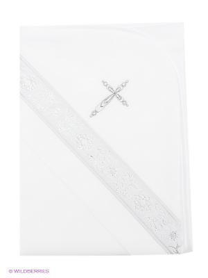 Крестильное полотенце Ангел мой. Цвет: белый, серебристый