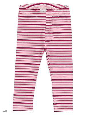 Леггинсы PlayToday. Цвет: розовый, белый