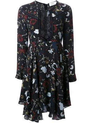 Платье с цветочным принтом A.L.C.. Цвет: чёрный