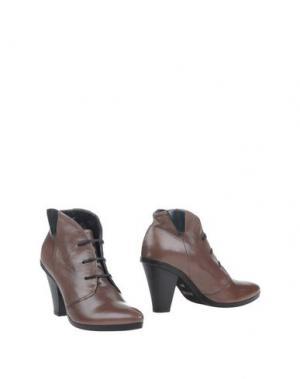 Полусапоги и высокие ботинки LILIMILL. Цвет: голубиный серый