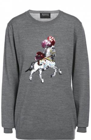 Вязаный свитер Markus Lupfer. Цвет: темно-серый