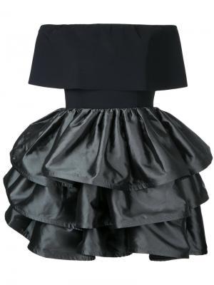 Платье с оборчатой юбкой Greta Constantine. Цвет: чёрный