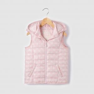 Куртка стеганая с рисунком в горошек, без рукавов, капюшоном,  3-12 ans R édition. Цвет: набивной рисунок