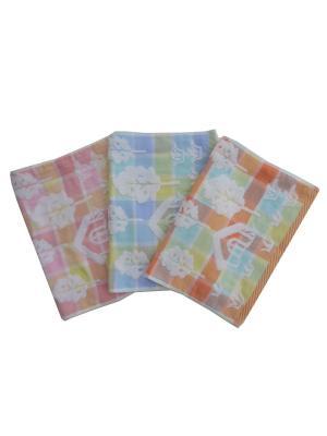 Полотенца банные A and C Collection. Цвет: желтый, оранжевый, розовый