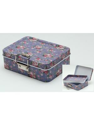 Коробка для безделушек и мелочей Аллея роз Magic Home. Цвет: белый
