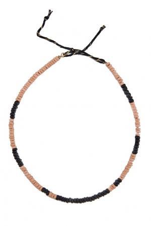 Двухцветное ожерелье Caramel Baby&Child. Цвет: черный