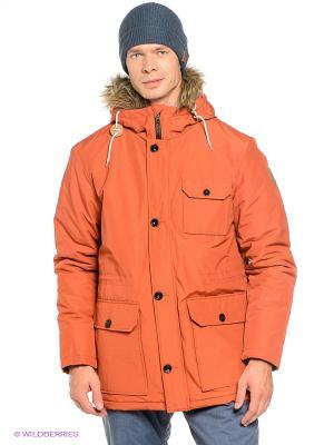 Куртка MUMFORD Quiksilver. Цвет: оранжевый