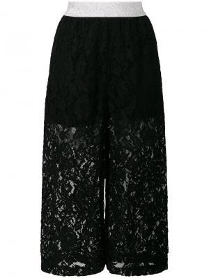 Укороченные кружевные брюки  IM Isola Marras I'M. Цвет: чёрный