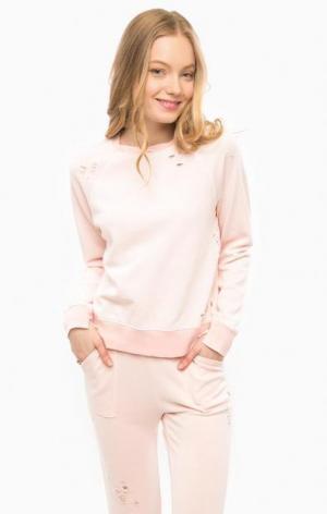 Розовый свитшот с декоративными рваными деталями Juicy by Couture. Цвет: розовый