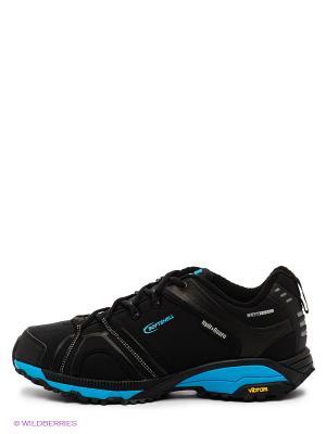 Мембранная обувь Ascot. Цвет: черный, голубой