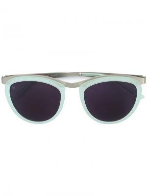 Солнцезащитные очки Comic Strip Smoke X Mirrors. Цвет: зелёный
