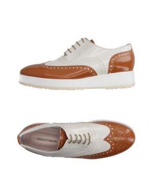 Обувь на шнурках LORENZO MARI. Цвет: слоновая кость