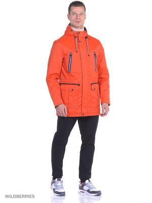 Зимняя куртка Malinardi. Цвет: оранжевый