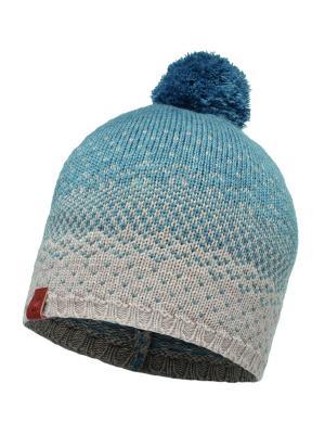 Шапка BUFF 2016-17 KNITTED HAT MAWI STONEBLUE-STONE BLUE. Цвет: серый, синий