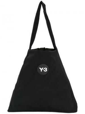 Сумка на плечо с нашивкой логотипа Y-3. Цвет: чёрный
