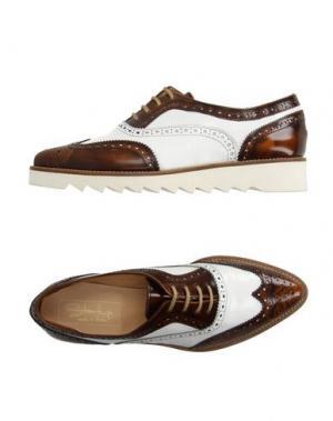 Обувь на шнурках START UP. Цвет: коричневый