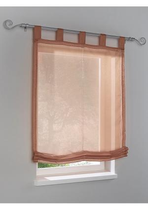 Римская штора Heine Home. Цвет: коричневый, лиловый, светло-коричневый, серый