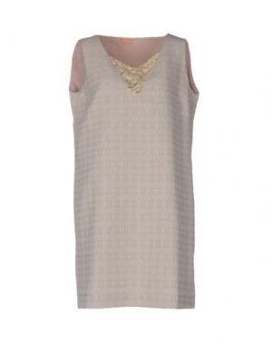 Короткое платье MACRÍ. Цвет: песочный