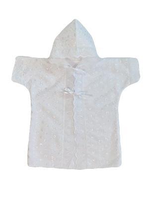 Рубашка крестильная с капюшоном Дашенька. Цвет: белый