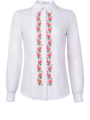 Блузка Ksenia Knyazeva. Цвет: белый