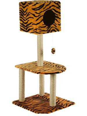 Домик-когтеточка для кошки Doggy Style. Цвет: черный, оранжевый
