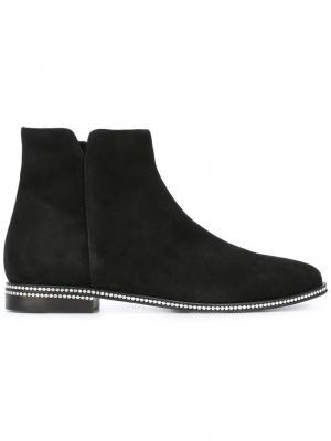Декорированные ботинки Le Silla. Цвет: чёрный