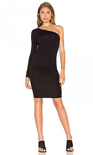 Облегающее платье на одно плечо twenty. Цвет: черный