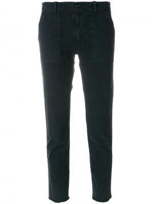 Укороченные брюки Jenna Nili Lotan. Цвет: синий