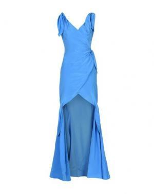 Длинное платье MOSCHINO. Цвет: лазурный