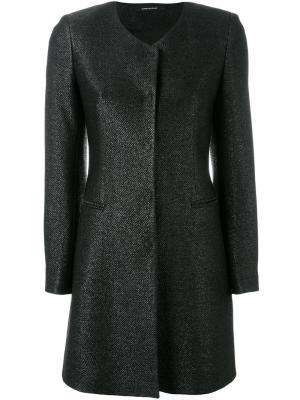 Пальто с потайной планкой Tagliatore. Цвет: чёрный