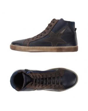 Высокие кеды и кроссовки BISGAARD. Цвет: темно-синий