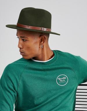 Brixton Мягкая фетровая шляпа Messer. Цвет: зеленый