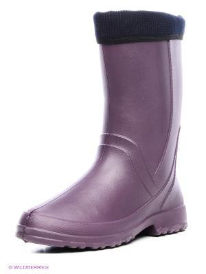 Резиновые сапоги Дюна. Цвет: фиолетовый