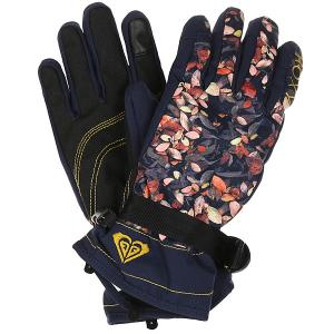 Перчатки женские  Rx Jetty Gloves Peacoat Waterleaf Roxy. Цвет: мультиколор