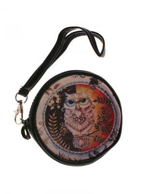 Оригинальный кошелек Лесная сова Tina Bolotina. Цвет: черный, голубой, красный