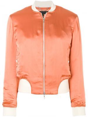 Куртка-бомбер с контрастной отделкой Rag & Bone. Цвет: жёлтый и оранжевый