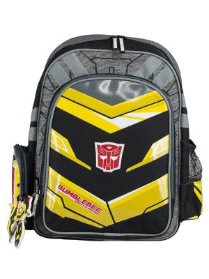 Рюкзак с эргономической EVA-спинкой. Transformers Prime. Цвет: желтый, красный, черный