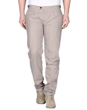 Повседневные брюки DANIELE ALESSANDRINI. Цвет: голубиный серый