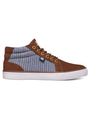 Кеды DC Shoes. Цвет: коричневый, синий