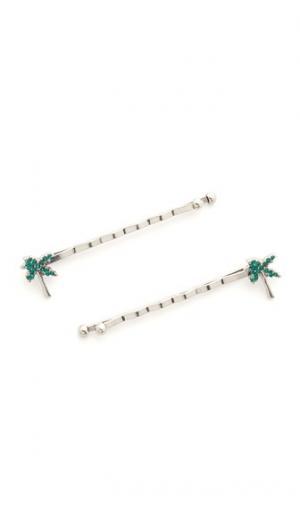 Заколки-невидимки Palm Tree со стразами Marc Jacobs