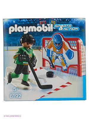 Хоккей: Тренажёр для забивания голов Playmobil. Цвет: зеленый, красный