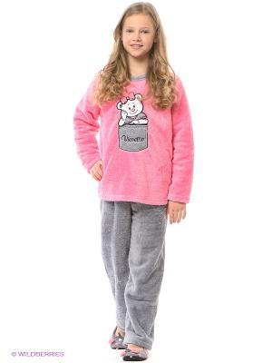Пижама Vienetta Secret. Цвет: серый, розовый