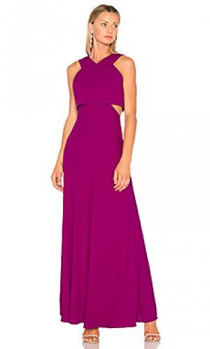 Вечернее платье с v-образным вырезом JILL STUART. Цвет: фиолетовый