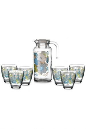 Кувшин и 6 стаканов Pasabahce. Цвет: мультицвет