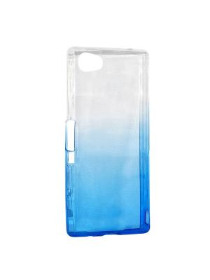 Крышка задняя для Sony Z5 MINI/Z5 COMPACT Силикон IQ Format. Цвет: синий