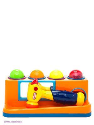Развивающая игрушка Веселый молоточек MOMMY LOVE. Цвет: оранжевый